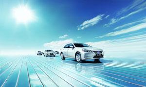 雷克萨斯油电混合动力车摄影图片