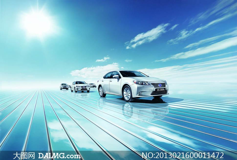 雷克萨斯油电混合动力车摄影图片 大图网设计高清图片