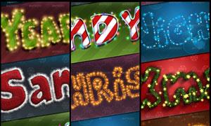 7款圣诞节艺术字字体动作