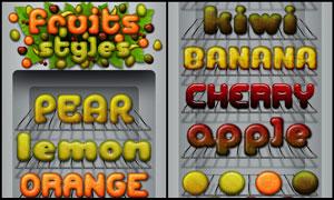 橘子皮纹理立体字字体样式