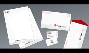 信封信紙和名片設計PSD源文件