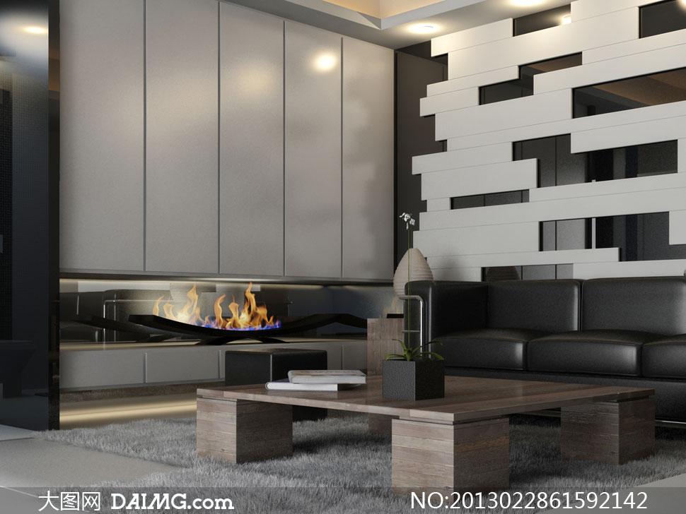 室内房间沙发茶几陈设摄影高清图片 - 大图网daimg.com