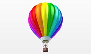 缤纷七彩图案的热气球摄影高清图片