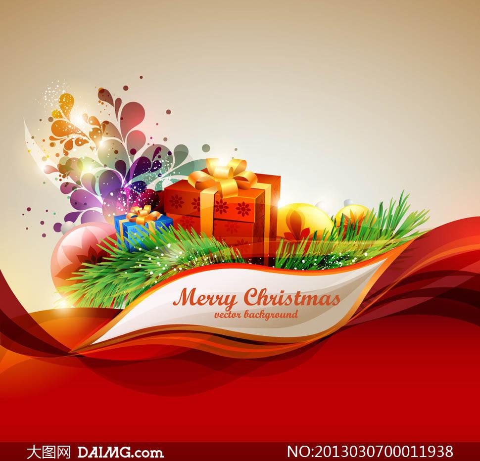 圣诞节时尚广告背景矢量素材