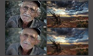 风景照片和人物质感的HDR效果调色动作