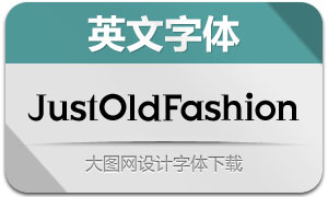 JustOldFashion(英文字体)