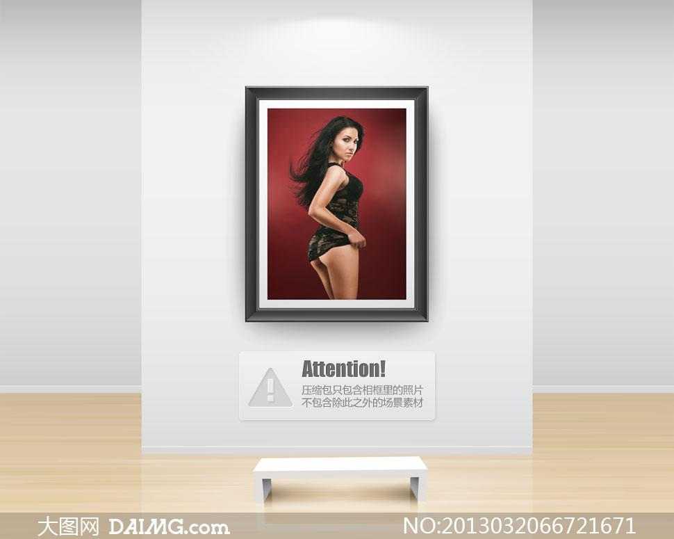 身穿黑色透视装的美女摄影高清图片 大图网设