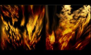 超美的火焰燃烧效果笔刷
