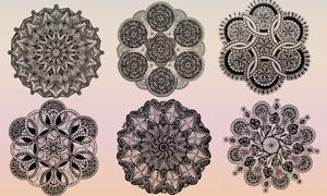 高清晰艺术花朵装饰笔刷