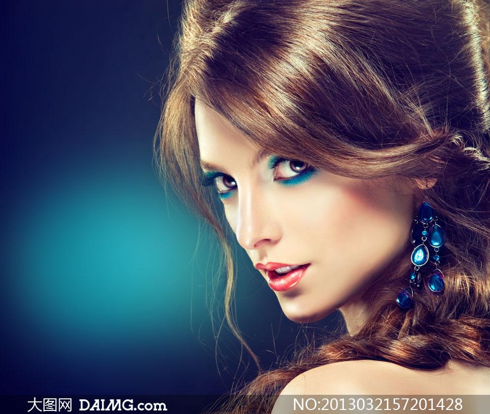 商品秀发眼妆美女模特v商品高清亮泽受同情趣卖男图片为图片