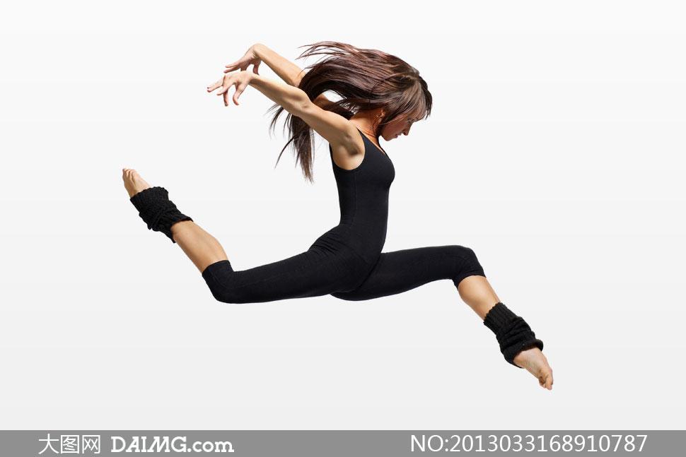 黑色装扮美女舞者人物摄影高清图片 大图网设
