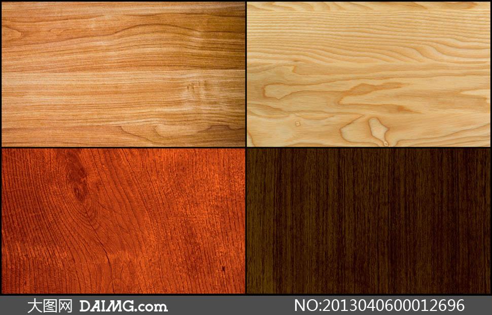 高清晰木材纹理背景图片素材