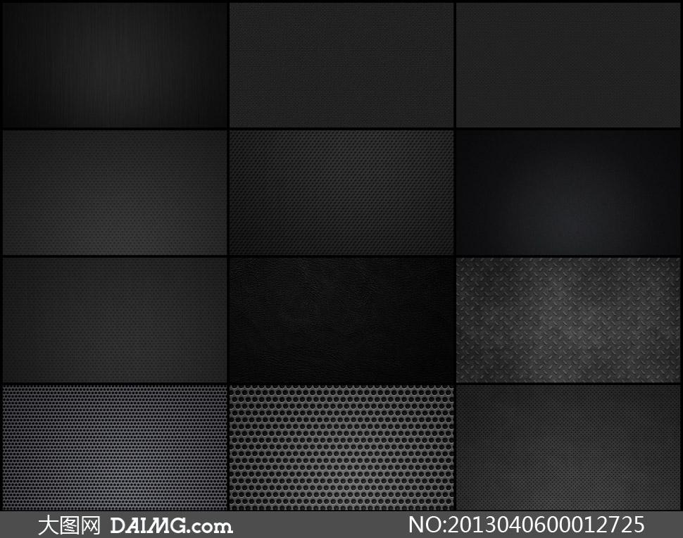 黑色圆点和金属防滑板背景图片素材