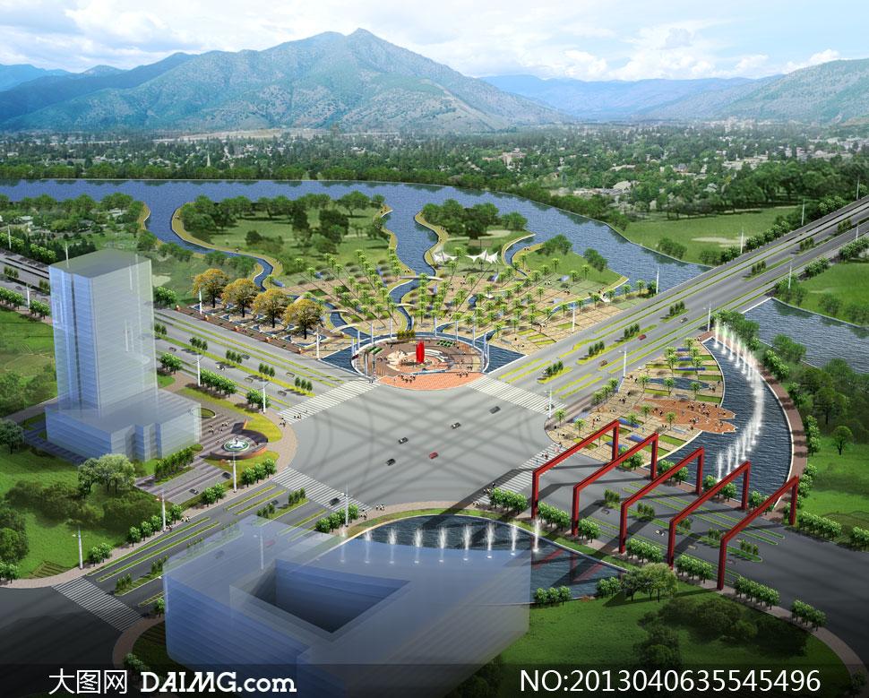 绿化设施景观设计psd分层素材 大图网设计素材下载图片