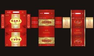 廣東海味山珍禮品包裝設計矢量素材