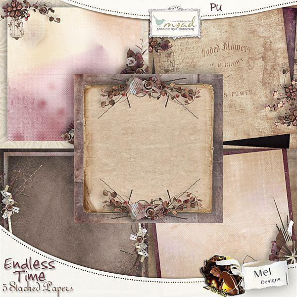 四叶草和复古边框背景图片素材         下雨用品和可爱图案