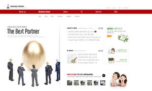 红色风格网页设计模板PSD源文件