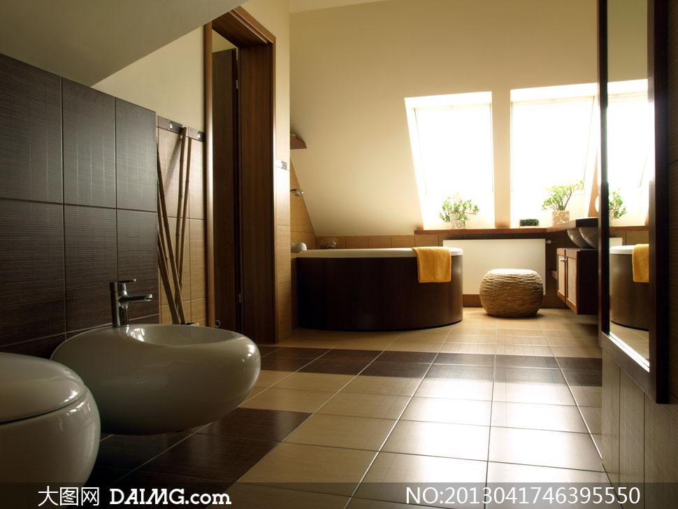 卫生间浴室装修效果图摄影高清图片