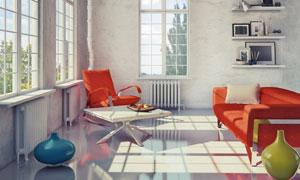 室内茶几沙发家具陈设摄影高清图片