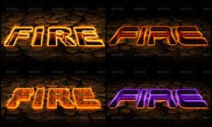 超酷的3D燃烧艺术字动作