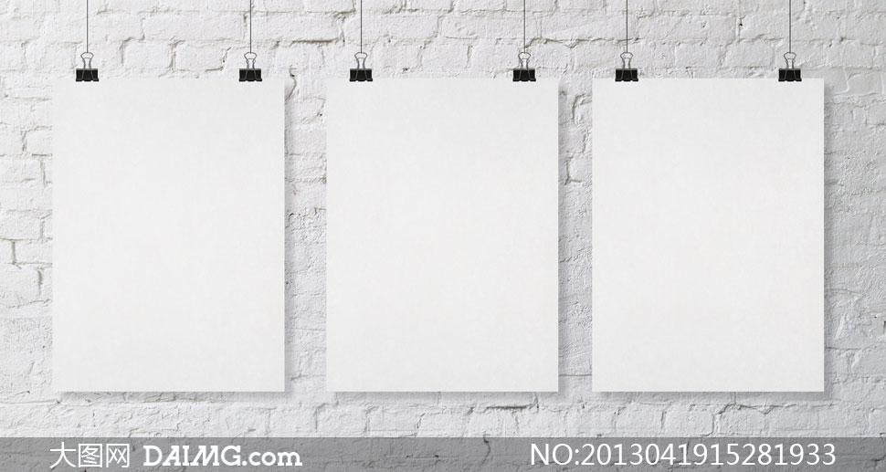 挂在墙上的空白公告牌摄影高清图片 - 大图网设