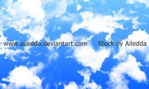 高清晰云彩云朵装饰笔刷