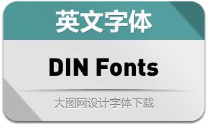 DIN系列84款英文字体