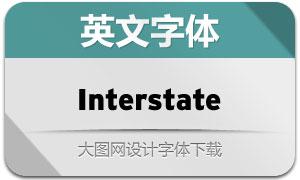 Interstate系列77款英文字体