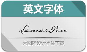 LamarPen(手写英文字体)