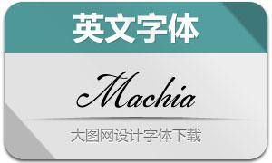 Machia(手写英文字体)
