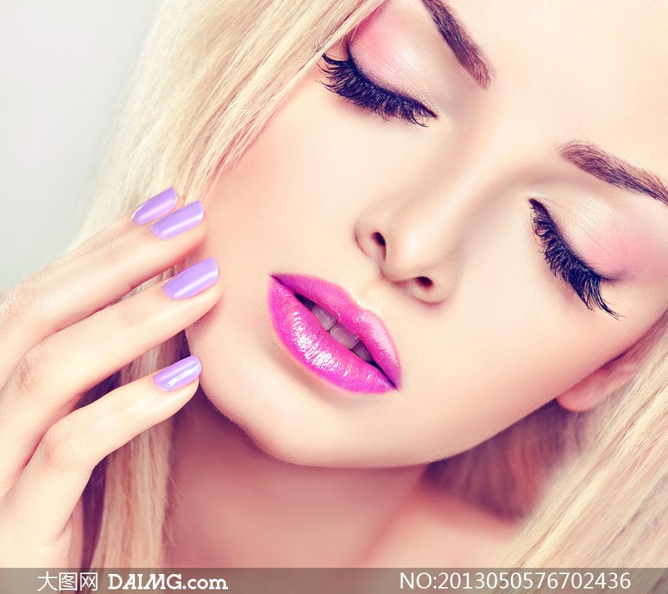 美女高清囹�a��9�k_超长睫毛唇妆美女人物摄影高清图片