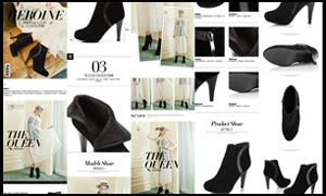 淘宝高跟鞋宝贝描述模板PSD素材