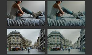 数码照片暗色效果调色动作