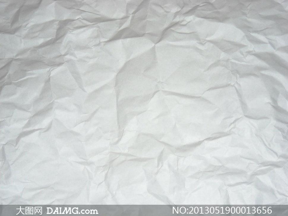 褶皱效果的高清晰纸张图片素材