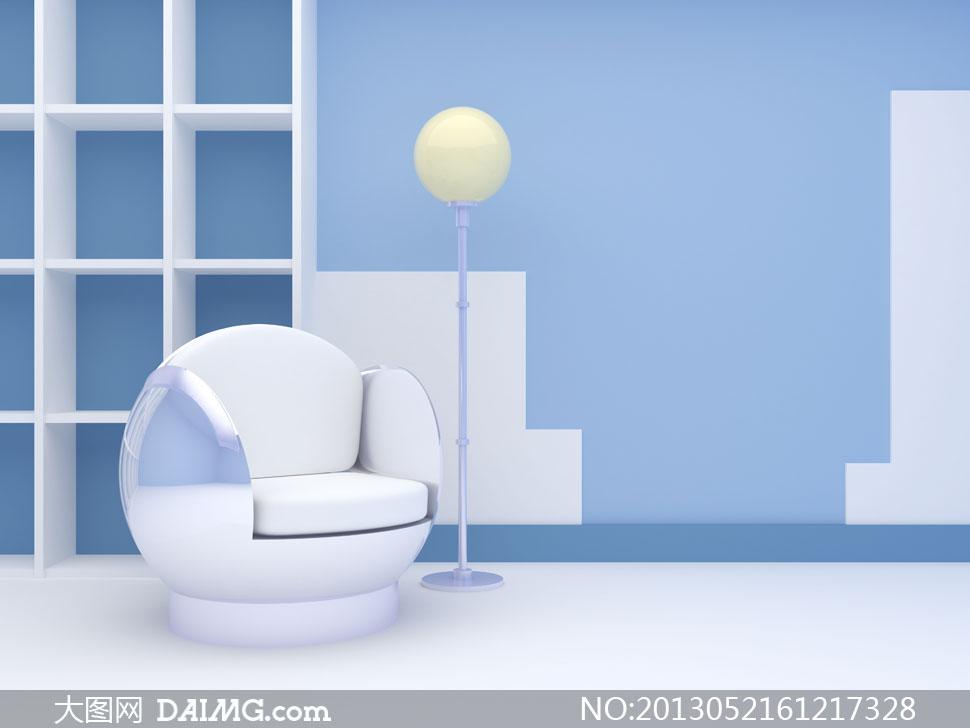 室内灯具沙发创意家居摄影高清图片 大图网设计素材下载