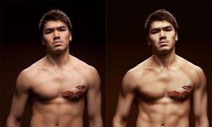 男模質感膚色商業精修PS調整圖層