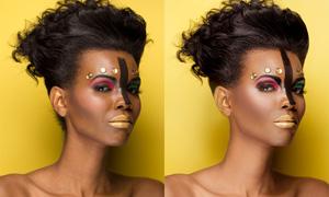 彩妆模特后期肤色精修PSD调整图层