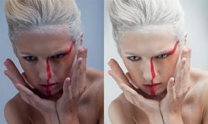 美女人像美白和后期精修PSD调整图层