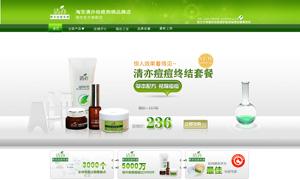 淘宝绿色风格化妆品店铺装修PSD素材