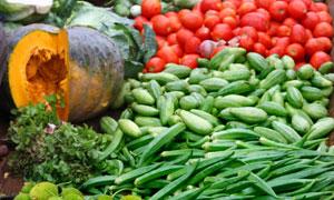 新鲜瓜果蔬菜近景特写摄影高清图片