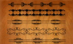 古典立体感花纹边框笔刷
