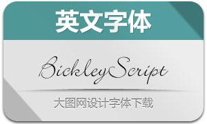 BickleyScript(英文书法字体)
