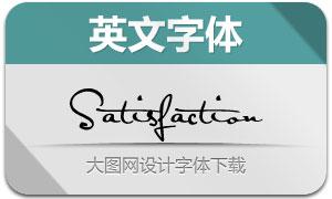 Satisfaction(英文字体)