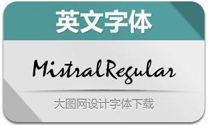 MistralRegular(手写英文字体)
