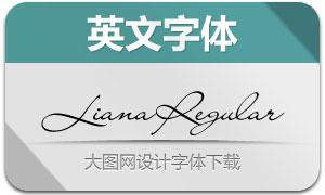 LianaRegular(英文字体)