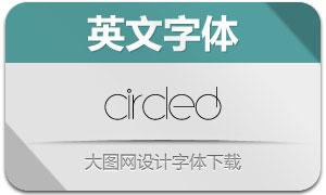 Circled(英文字体)