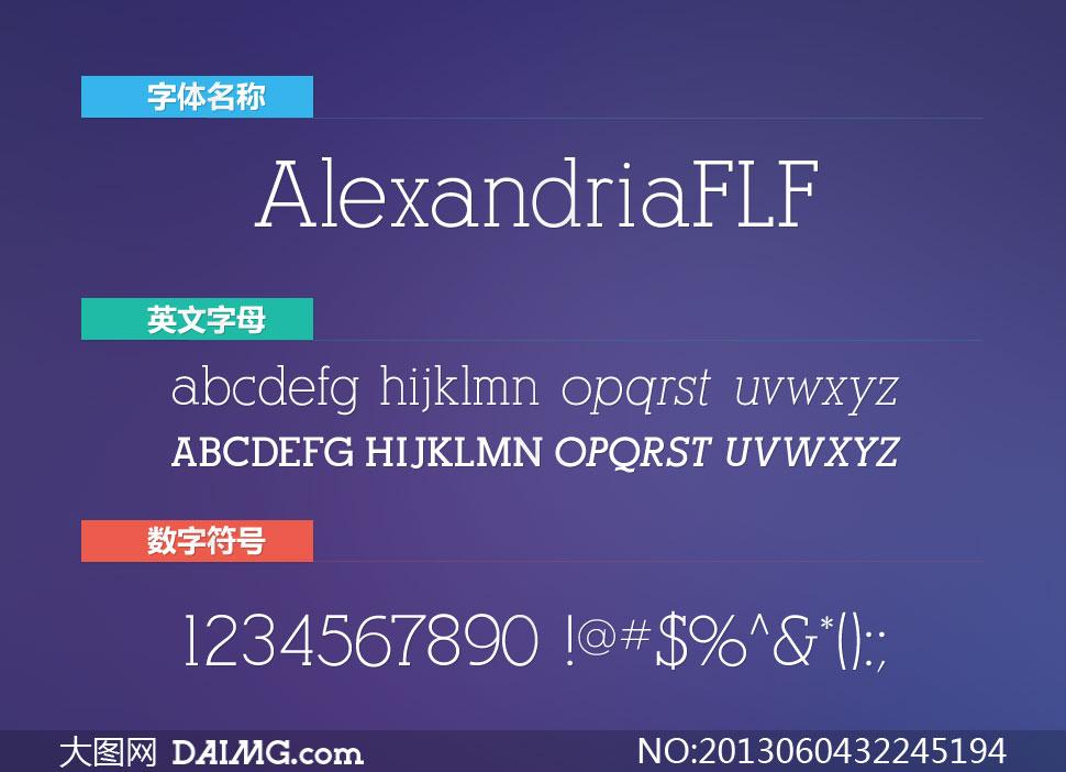 AlexandriaFLF(4款英文字体)