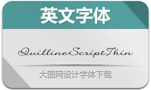 QuillineScriptThin(英文字体)