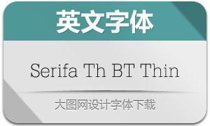 SerifaThBTThin(英文字体)
