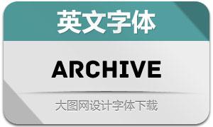 Archive(英文字体)